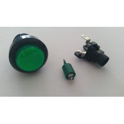 Boutons lumineux 28mm vert