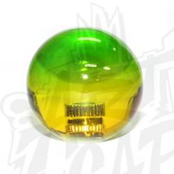 Boule bicolore vert/jaune