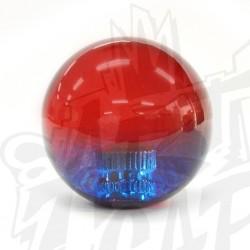 Boule bicolore rouge/bleu