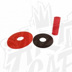 shaft cover SANWA JLF-CD-CY transparent rouge