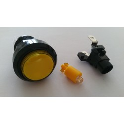 Boutons lumineux 28mm jaune