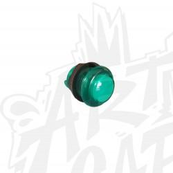Boutons transparents lumineux 28mm vert