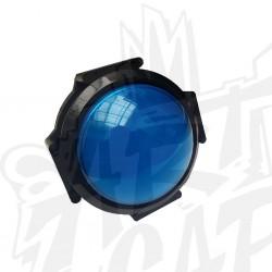 Bouton 63mm dôme bleu