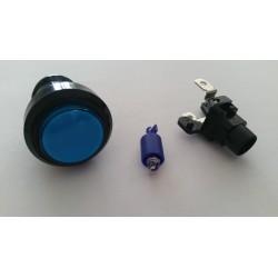 Boutons lumineux 28mm bleu