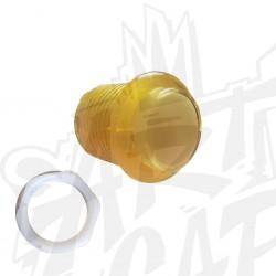 Bouton lumineux transparent jaune 24mm