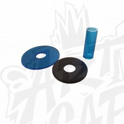shaft cover SANWA JLF-CD-CY transparent bleu