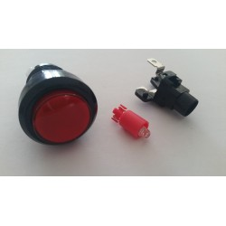 Boutons lumineux 28mm rouge